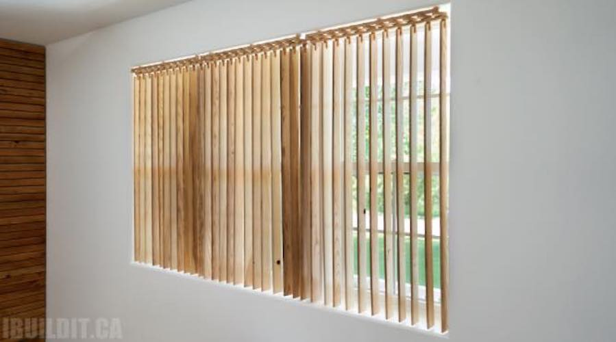 Free plans to build your own Wooden Vertical Blinds.
