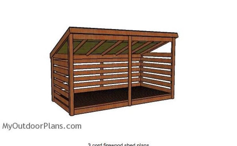Firewood Shed for 3 Cords