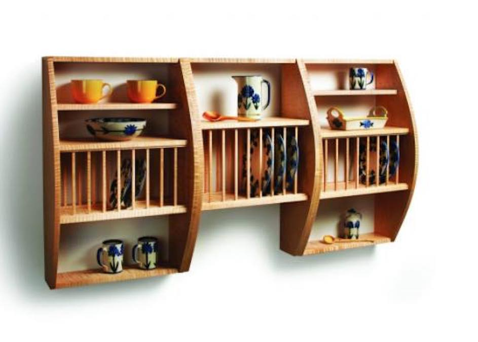 Free plans to build a plate rack.