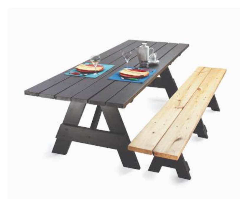 Build a Picnic Table for Dining Room Table with free plans.