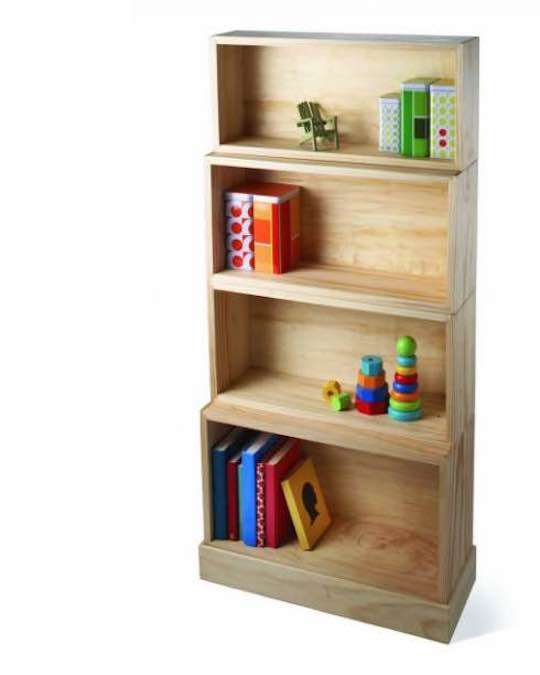 Free plans to build a Stacking Bookcase.