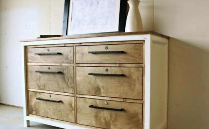 Free plans to build a 6 Drawer Dresser.