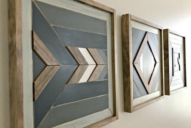 Wall Quilt Art From Scrap Wood