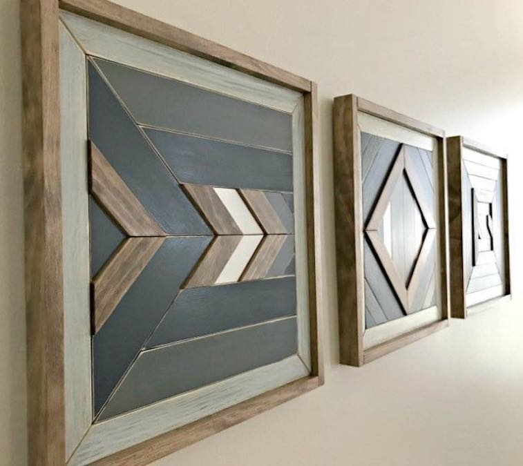 Build Wall Quilt Art From Scrap Wood with free plans.