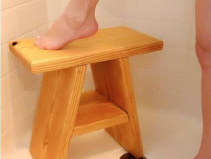 Wooden Shower Stool PDF