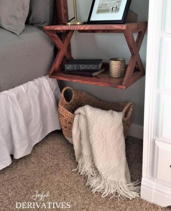 Free plans to build Floating Bedside Tables.