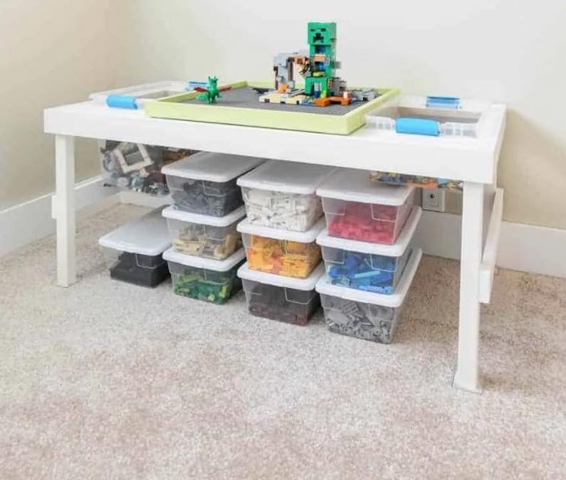 Free plans to build a Lego Table.