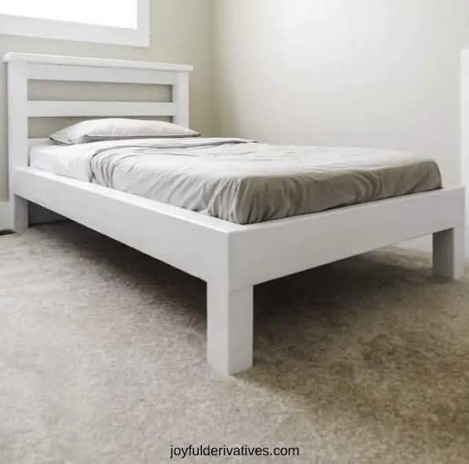 Free plans to build a Platform Bed with Legs.
