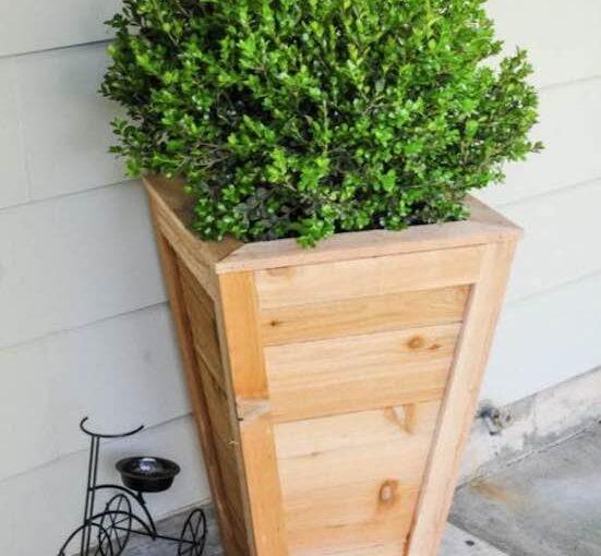 Tall Cedar Planter Box