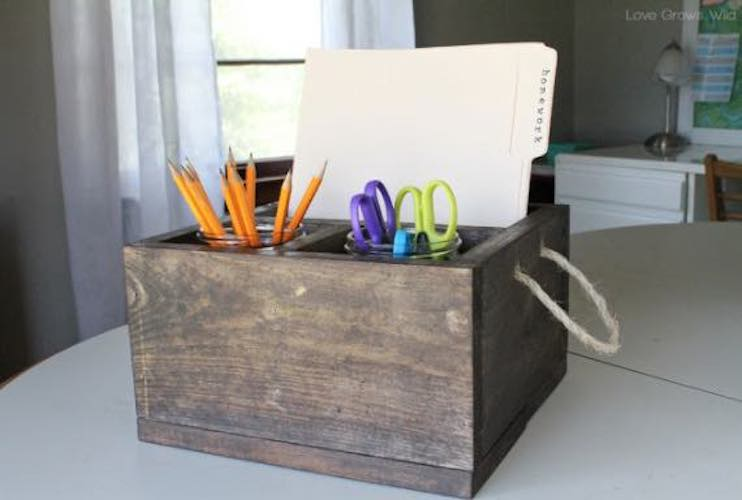 Homework Station Caddy