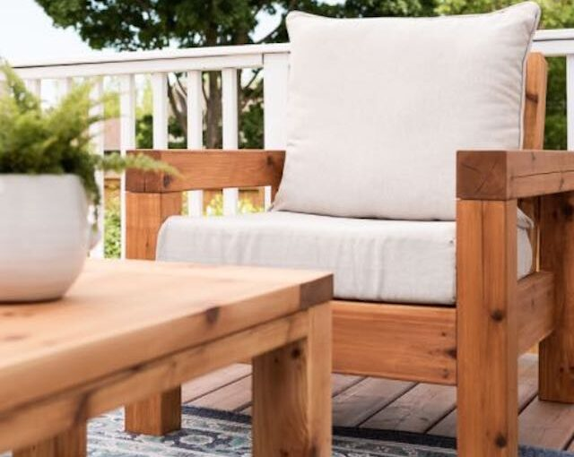 Build an Outdoor Chair using these free plans.
