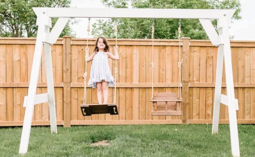 Free plans to build a Swing Set.