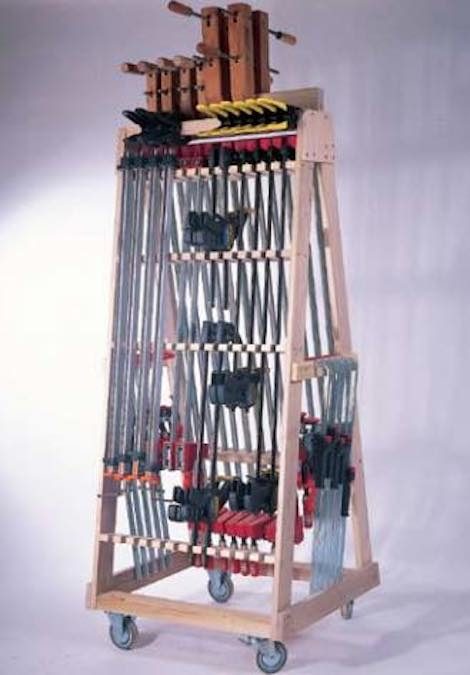 Free plans to build a Rolling Clamp Rack.