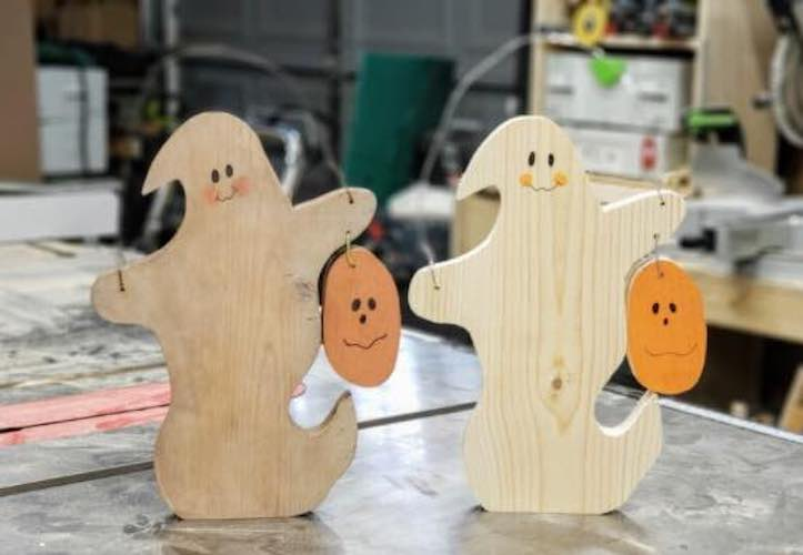 Learn how to make Spooky Ghost Halloween Decor.