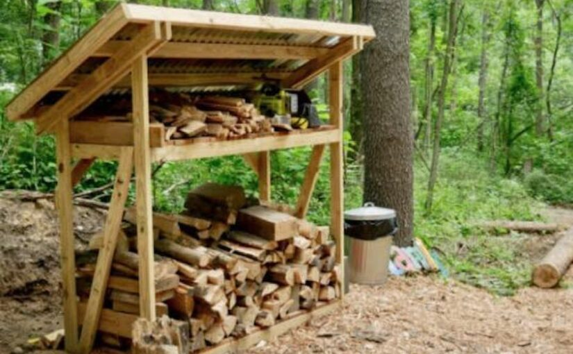 Firewood Shed for your Fire Pit