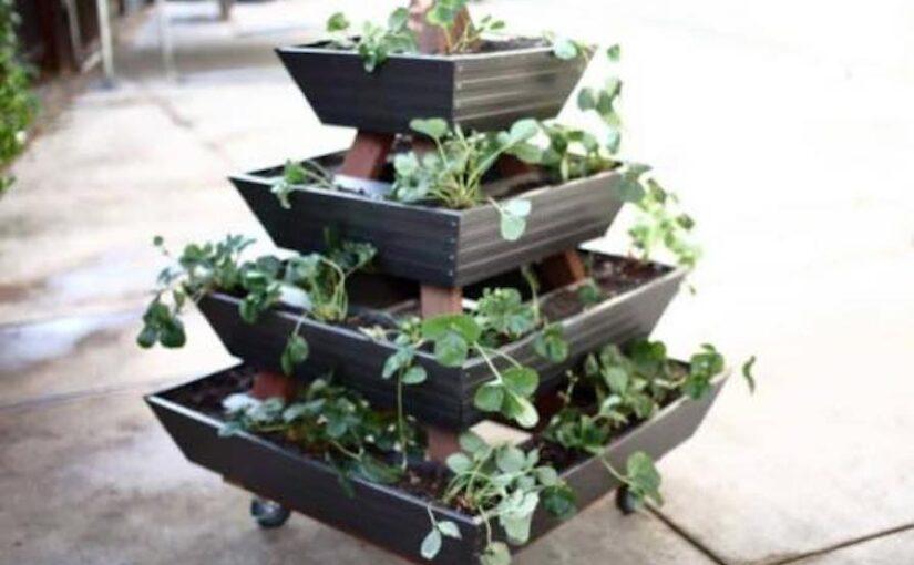 Pyramid Gutter Planter
