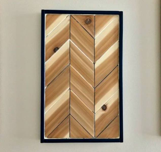 Free plans to build Chevron Wood Wall Art.