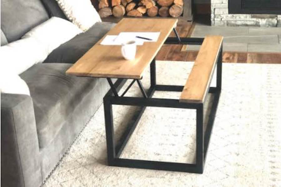Build a Coffee Table With Lift Top using free plans.