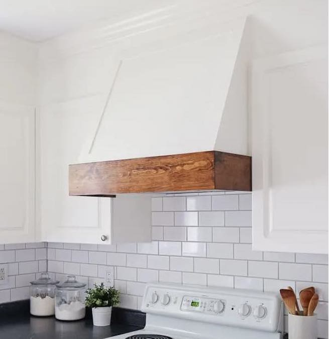 Build your own Range Hood Cover with free plans.