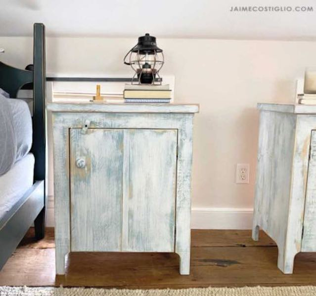 Build a Primitive Nightstand with free plans.