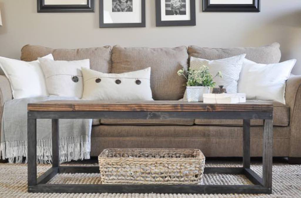 Build an Industrial Style Coffee Table with free plans.