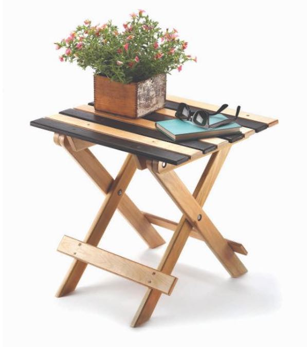 Build a Portuguese Folding Table using these free plans.