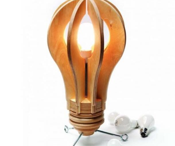 Free plans to build your own Light Bulb Lamp.