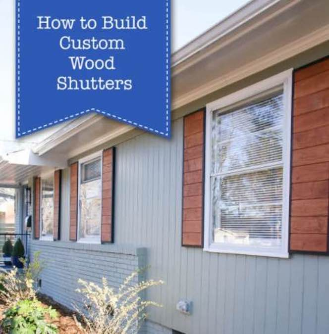 Build Custom Wood Shutters with free plans.