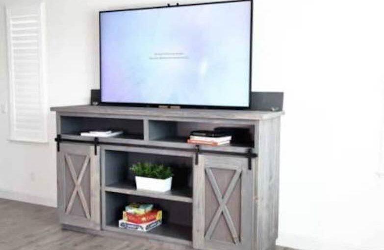Farmhouse Media Console with TV Lift