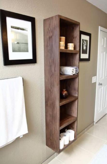 Build a Floating Shelf Unit using free plans.