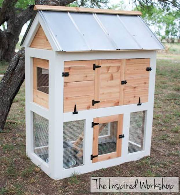 Free plans to build a Small Chicken Coop.