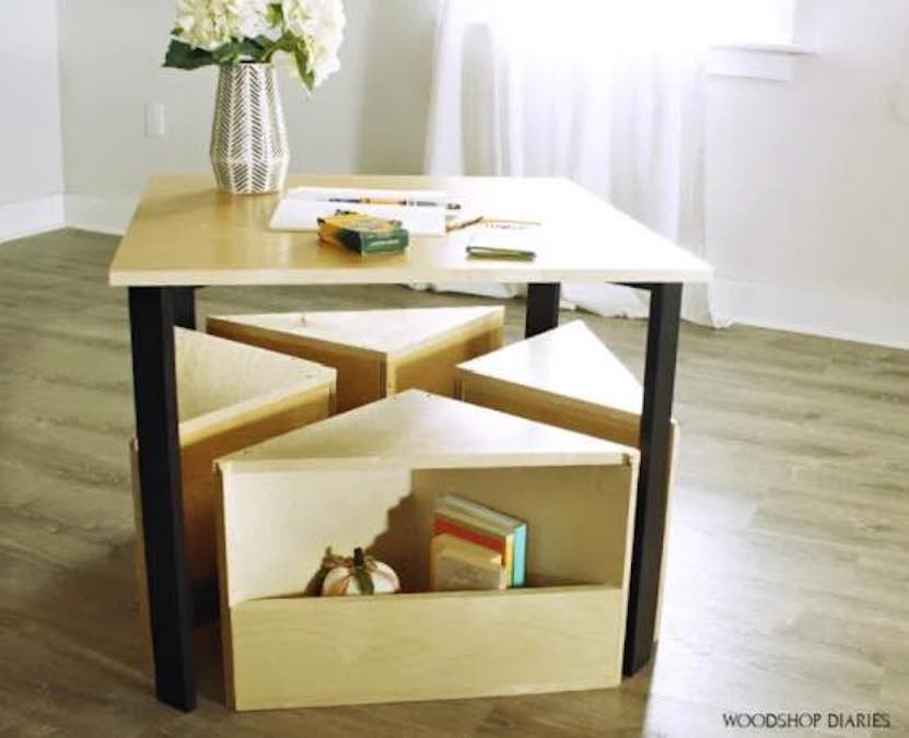 Build a Kids Nesting Table with free plans.