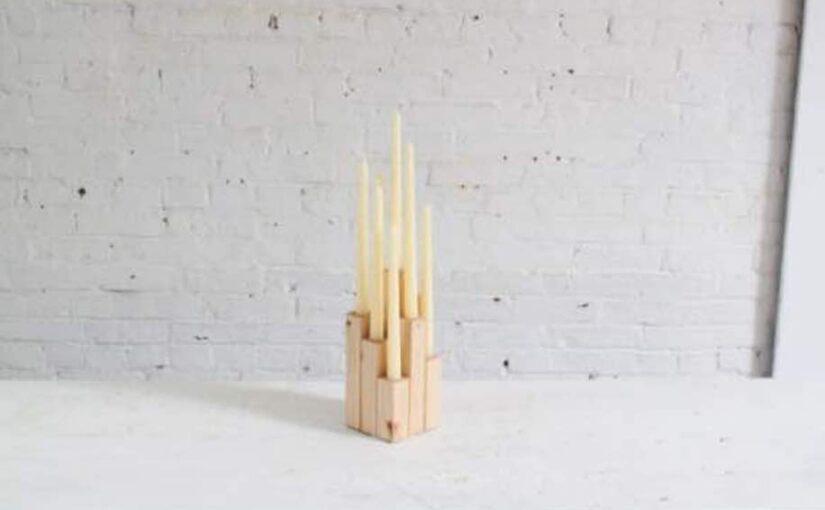 DIY Wood Candelabra