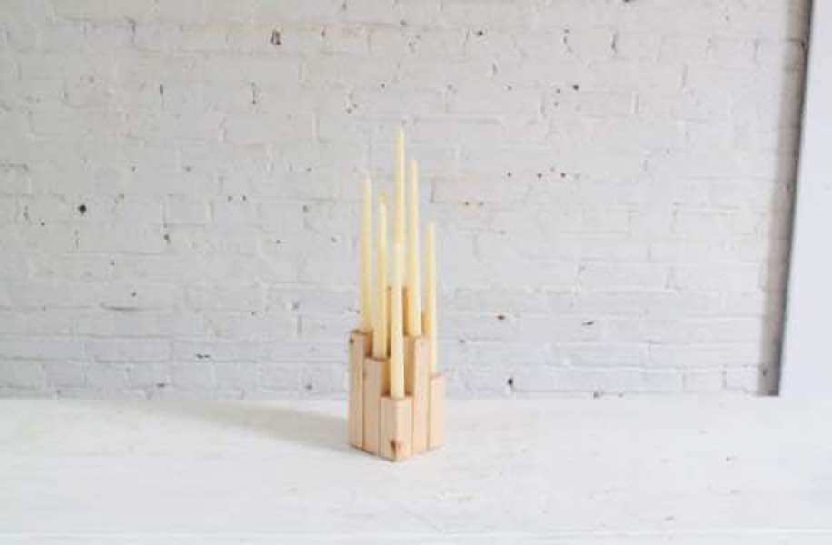 Free plans to build a DIY Wood Candelabra.