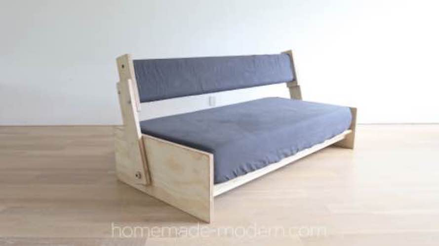 Free plans to build a DIY Sofa Bed.
