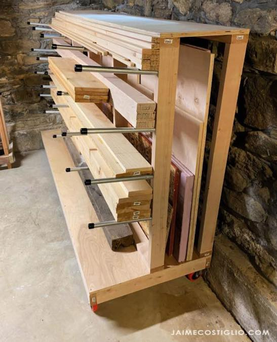 Free plans to build your own lumber rack.