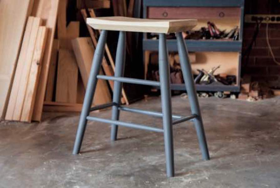 Build Bar Stool Shinto-Inspired using free plans.