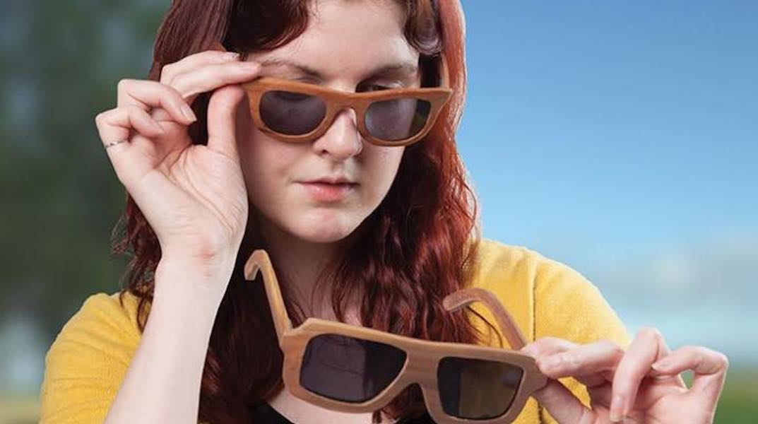 Build your own Wooden Sunglasses using a scroll saw.