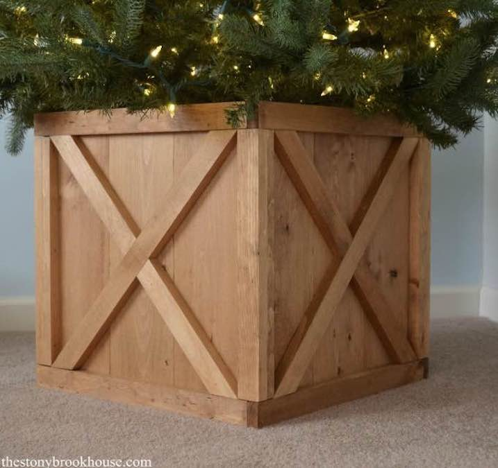 Build a Christmas Tree Stand using free plans.
