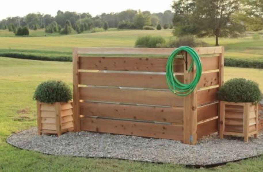 Build an Outdoor Cedar Screen using free plans.