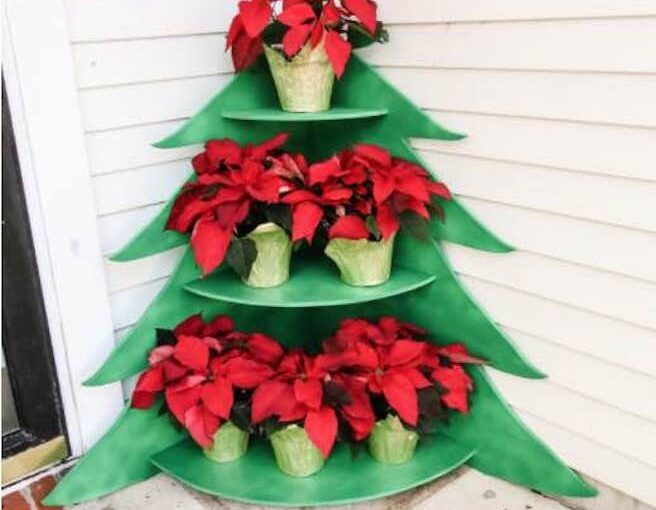 Christmas Tree Poinsettia Stand