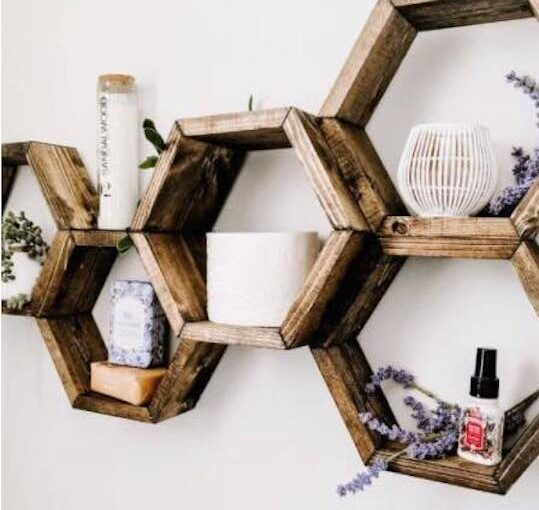Easy Hexagon Shelves