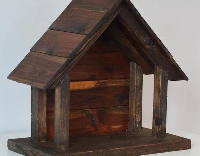 Build A Wood Nativity Stable