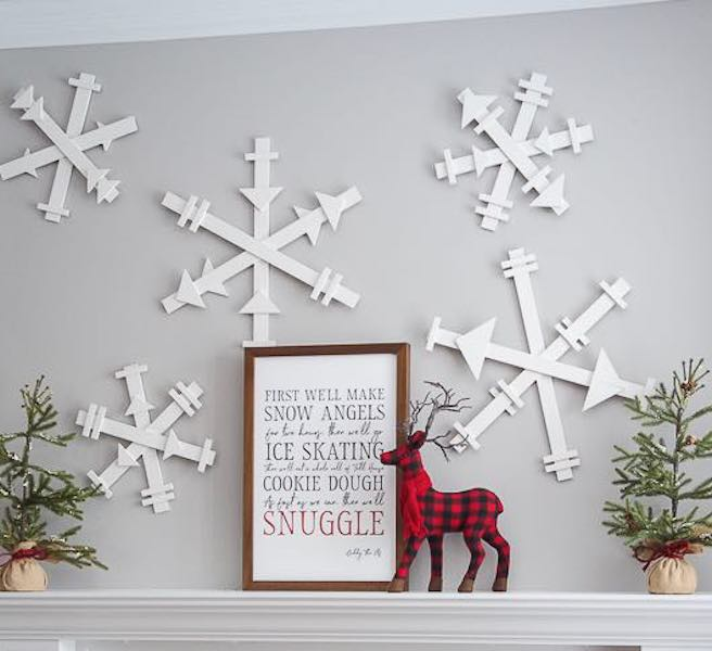 Build a few DIY Snowflakes using free plans.