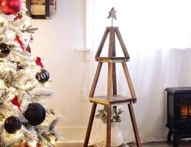 Build a Nesting Christmas Tree Shelf with free plans.
