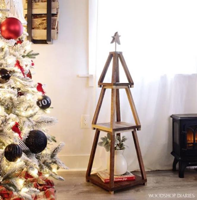 Build a Nesting Christmas Tree Shelf with free plans.