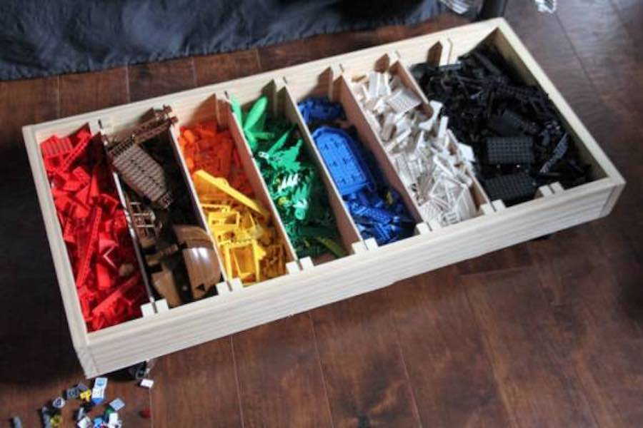 Build a Rolling Lego Sorter using free plans.