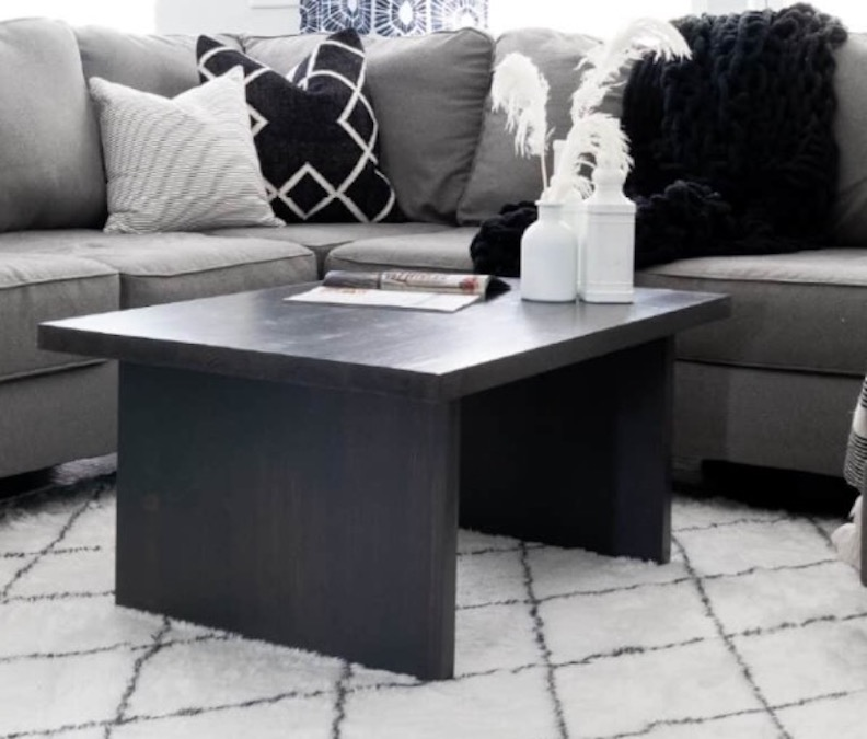 Free plans to build a modern coffee table.
