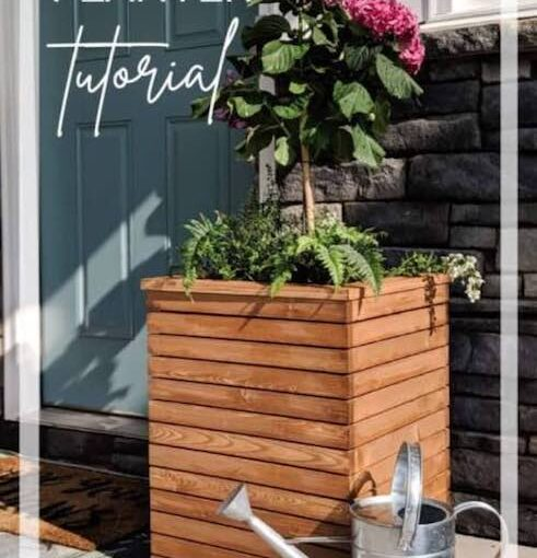 Modern Wood Planter Box