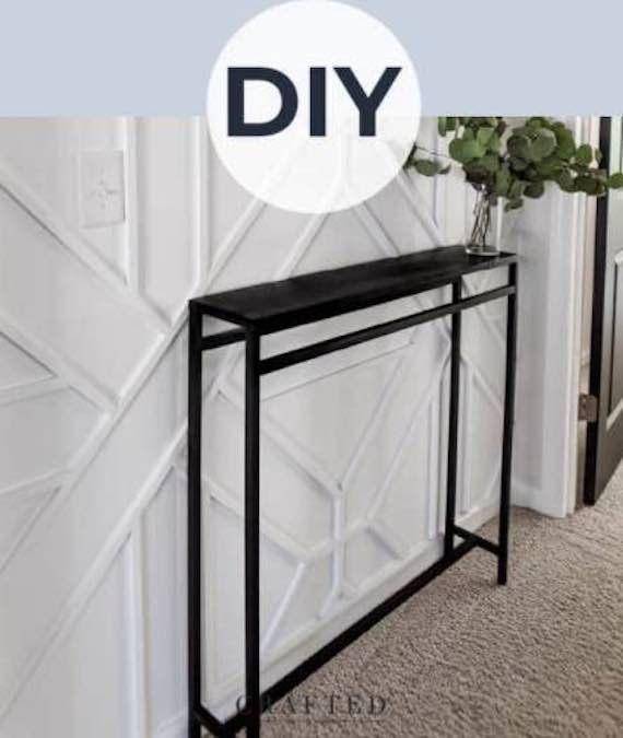 Free plans to build a Slim Entryway Table.
